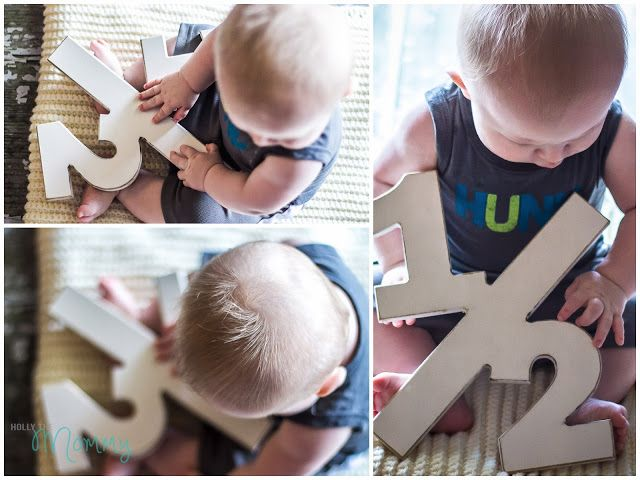 6 Month - Half Birthday Photo Prop for Baby - Photography Prop - 1/2 Sign
