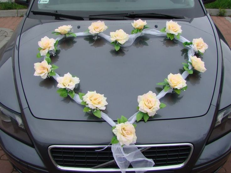 Autoschmuck Hochzeit Rattanherz Mit Blumen Dunkelrot Edelbg De