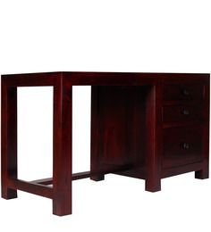 Montevideo Solid Wood Study Table in Passion Mahagony Finish by Woodsworth