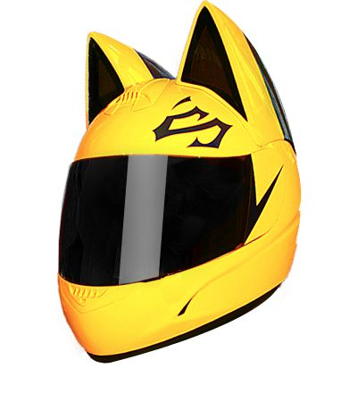 Selty Sturluson's helmet ONLY $ 590 BLACK AND YELLOW CAT HELMET