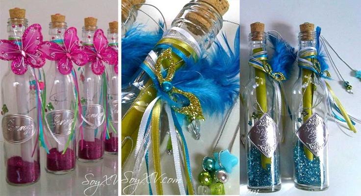 Invitaciones en una Botella ideal para 15