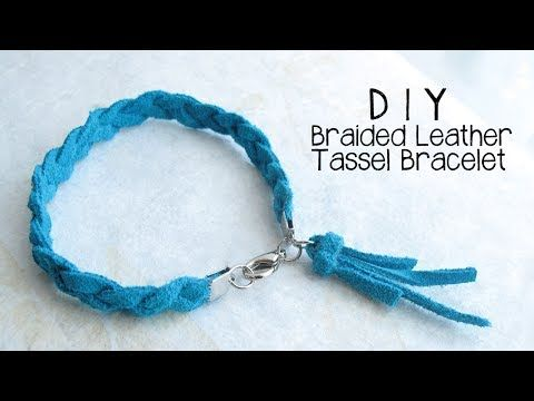DIY Braided Leather Tassel Bracelet Jewelry Making Tutorial - YouTube: pin success! used 3 mm navy suede cord cut to 16 mm ea, crimp ends and S clasp to finish, did not make tassel. Made 8/24/16