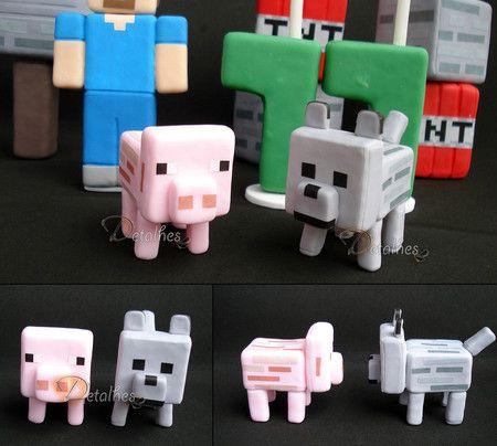Minecraft - Detalhes Arte em Biscuit