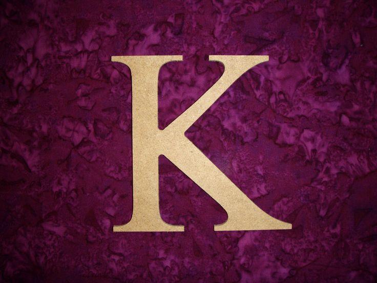 Unfinished Wood Greek Letter K Kappa Symbol by ArtisticCraftSupply