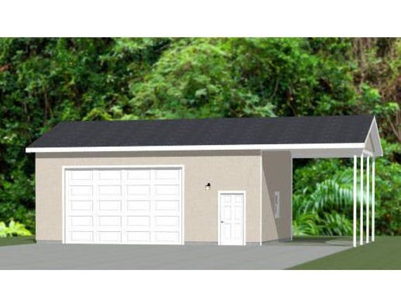 30x24 2 Car Garage 720 Sq Ft 12ft Walls Pdf Floor Etsy In 2020 Garage Car Garage Stucco Siding