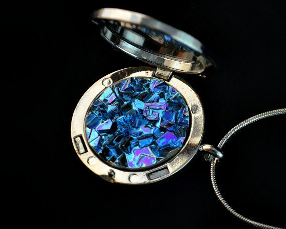 Ice Locket Large Bismuth Metal Crystal in a Bezel on by Element83, $48.00 #bismuth, #jewelry