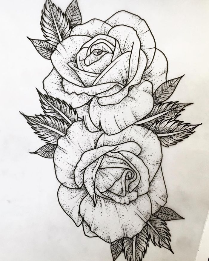 Here Is The Tattoo Template Of Roses Here Are Two Great Tattoo Of White Roses New Tattoo Models White Rose Tattoos Rose Drawing Tattoo Tattoo Templates