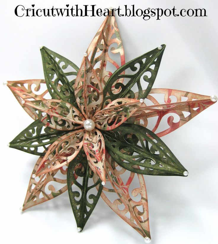 Cricut with Heart: Another Artiste Ornament Star picture tutorial