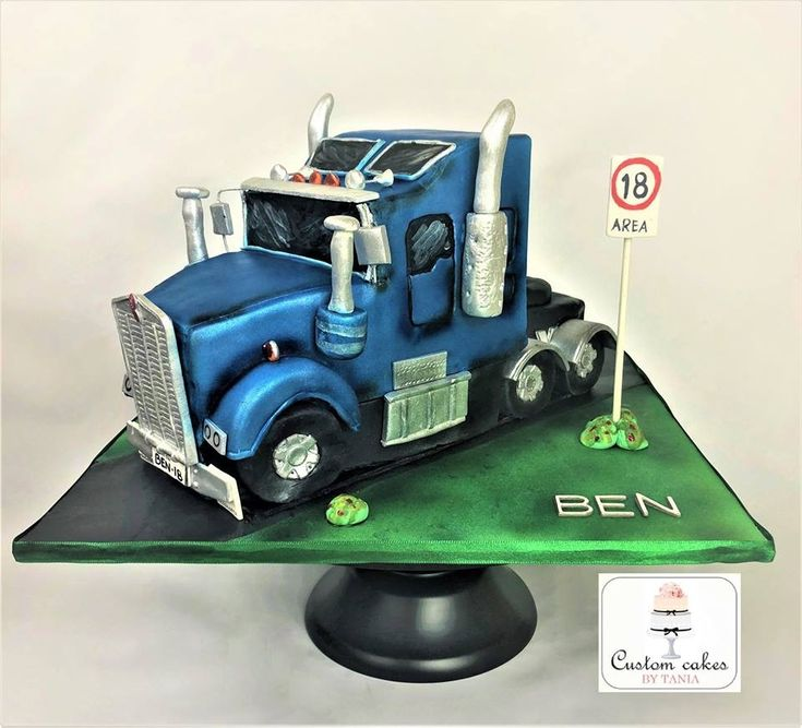 18th Birthday Kenworth Truck Cake Cakes In 2019 Truck