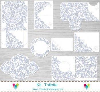 Kit Toilette Floral prata mod:621