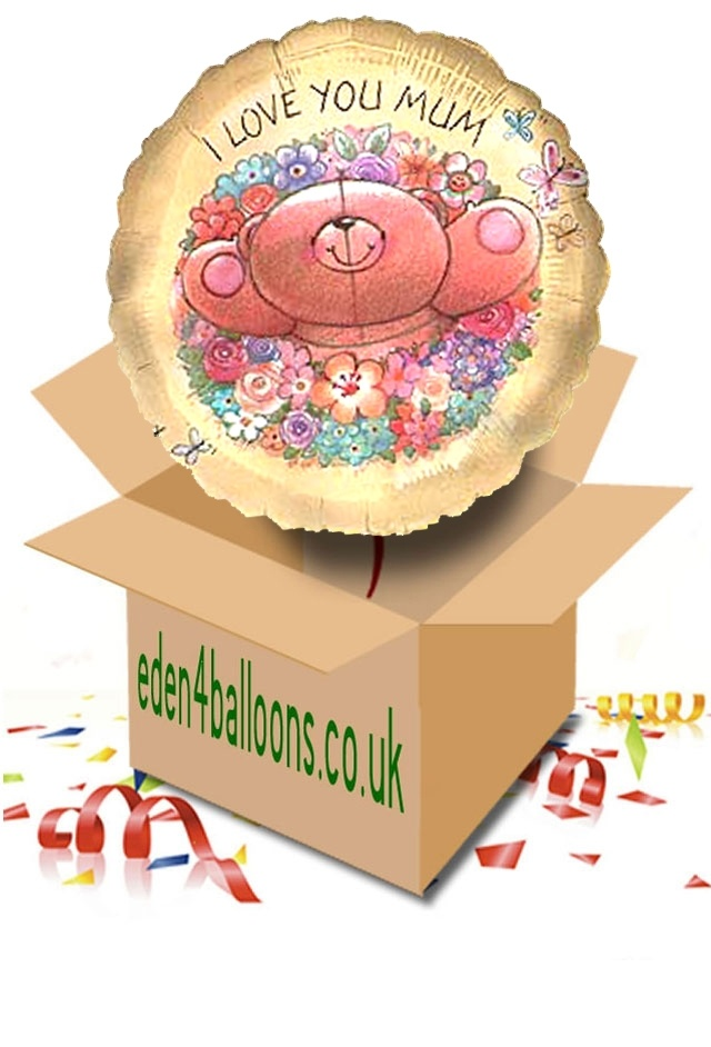 Mothers Day - I Love You Mum - Balloon in a Box