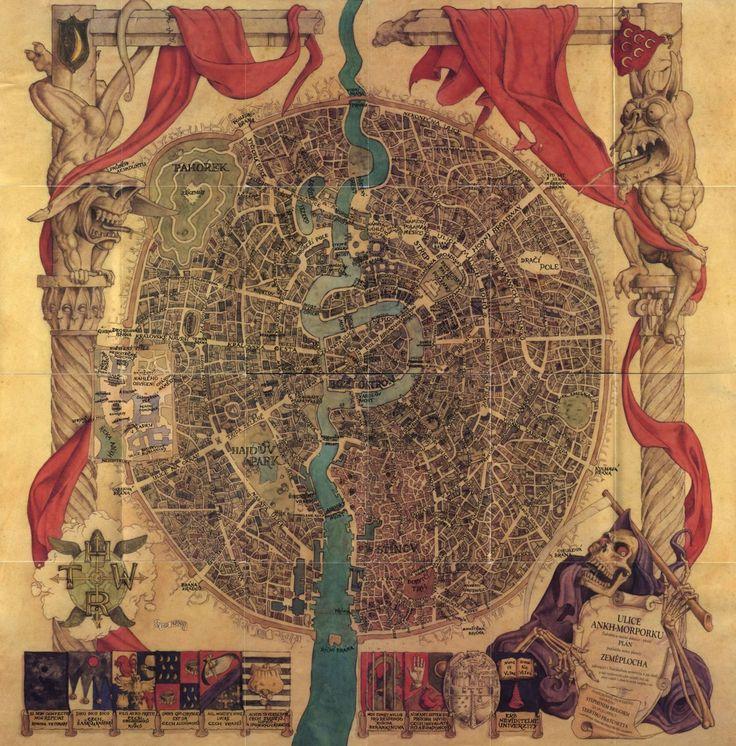 More Fictional Cartography; Ankh-Morpork: Dutch Maps, Illustrations Maps, Fantasy Maps, Ankh Morpork, Historical Maps, Rpg Maps, Incr Fantasy, Ankhmorporkmapjpg 10091024, Fiction Cartography