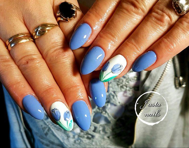Spring nails, tulipanki