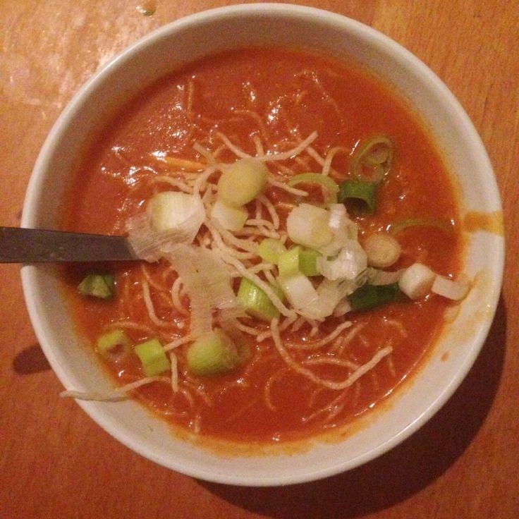 Homemade Chinese tomatensoep