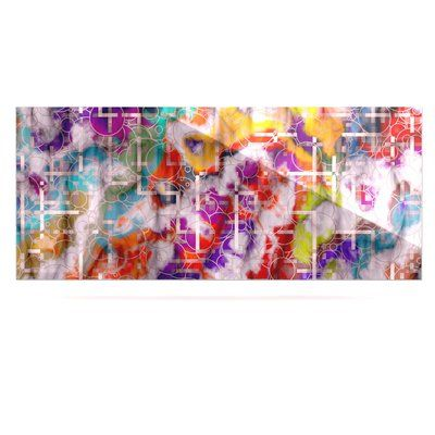 "East Urban Home Geometric 'Quantum Foam' Graphic Art Print on Metal Size: 16"" H x 20"" W x 1"" D"