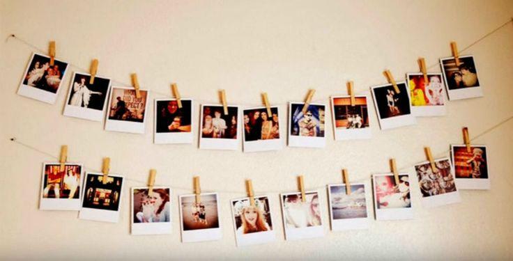 Бельевые веревки, прищепки и фотографии — и самая унылая стена в вашей комнате превратится в стену приятных воспоминаний и ярких моментов жизни.