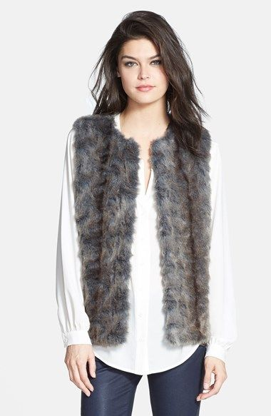 Topshop Faux Fur Vest (Nordstrom Exclusive) available at #Nordstrom