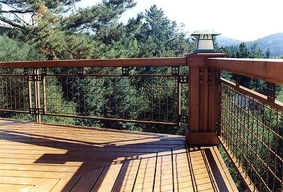 handrails for decks | Deck Railing in the Craftsman Style