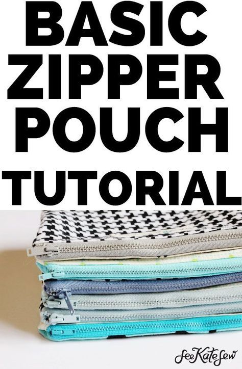 The Basic Zipper Pouch Tutorial | DIY pencil case | Sewing instructions | sewing kit   – Working with Fabrics