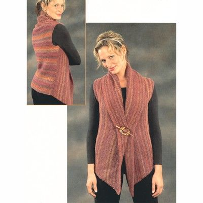 Plymouth Yarn 2111 Womans 2-Piece Vest