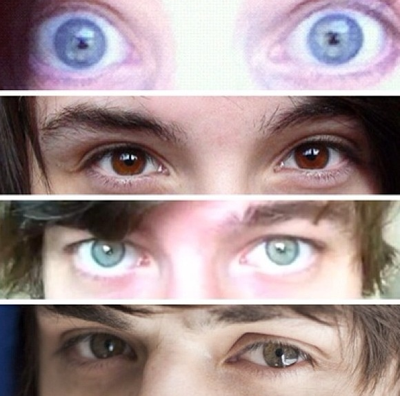 Dan Howell danisnotonfire Phil Lester amazingphil Pj Liguori kickthepj Chris Kendall crabstickz THEIR EYES OMG (If someone can guess them all correctly like I can they get an A+ for living)