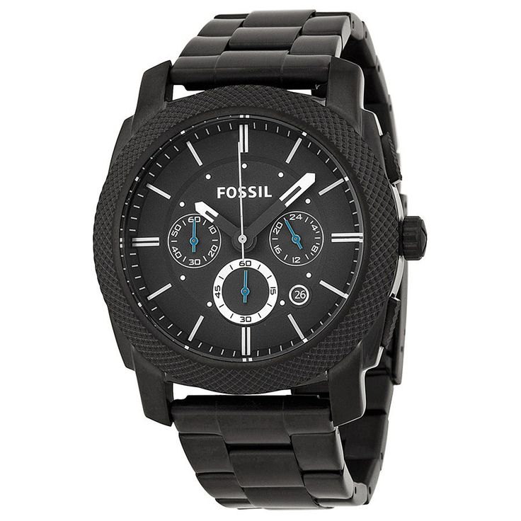 Fossil Chronograph Black ion-plated Mens Watch FS4552