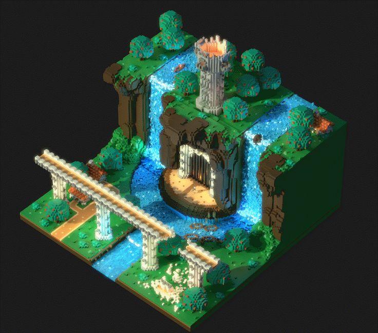 bridge-voxel-animation