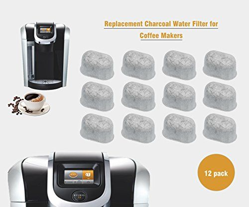 Activated Charcoal Water Purification Filters – For Keurig – Universal – Easy to Replace and Remove – Purifying from Chlorine, odors, and…
