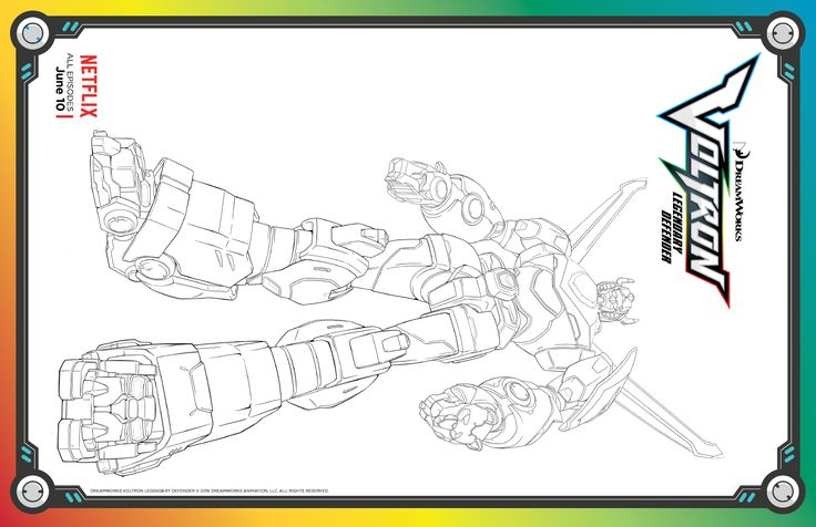 Voltron Legendary Defender In Coloring Pages: 1000+ Images About Voltron Printables On Pinterest