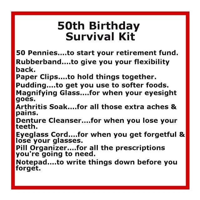 50th Birthday Gift Ideas.... For mom this year! Lol