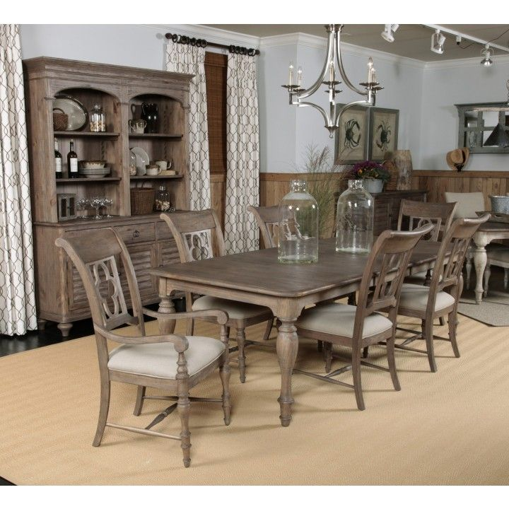 Kincaid Weatherford Canterbury Rectangular Dining Table Set In Heather Finish By Dining Rooms Outlet Rectangular Dining Table Kincaid Furniture Furniture Dining Table