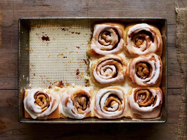 Classic Cinnamon Rolls from FoodNetwork.com - Best cinnamon rolls ever, store bought has been ruined for me. The basic sweet roll dough is easy to do. Toss up as to which was better - the cinnamon buns or the sticky monkey bread!