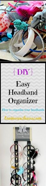 How to Organize Headbands ~ a quick and simple headband organizer
