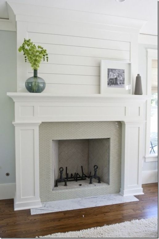 shiplap fireplace molding