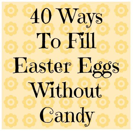 40 Ways to Fill Easter Eggs without Candy from The Jenny Evolution