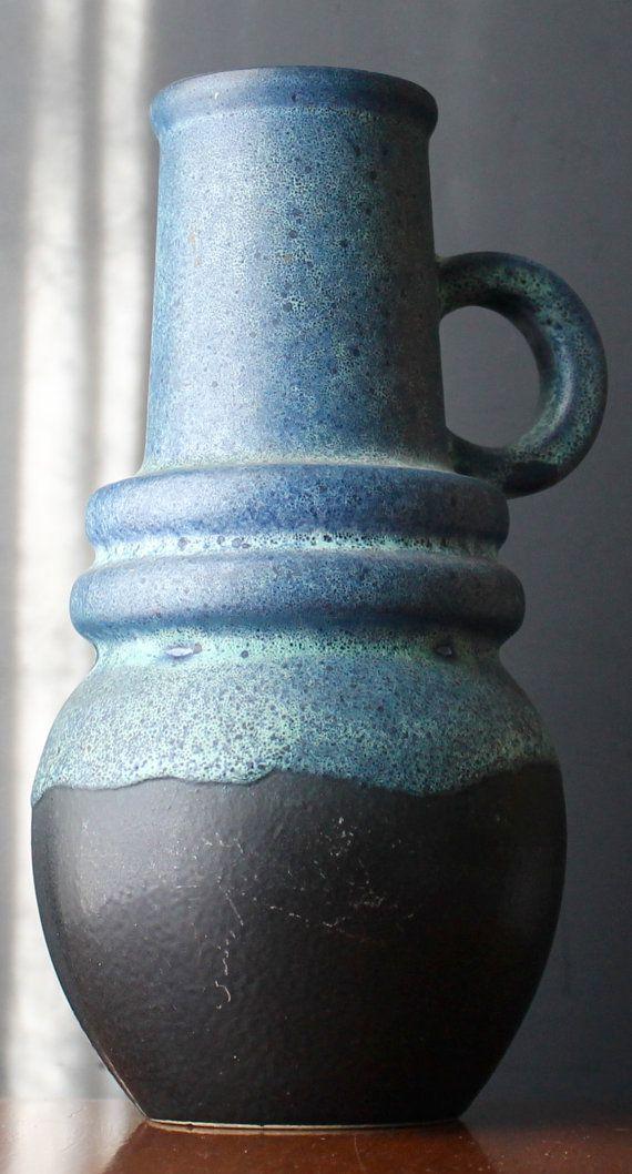 Westdeutschland Fat Lava Vase Mad Men Dekor von NotMadeInChinaFinds