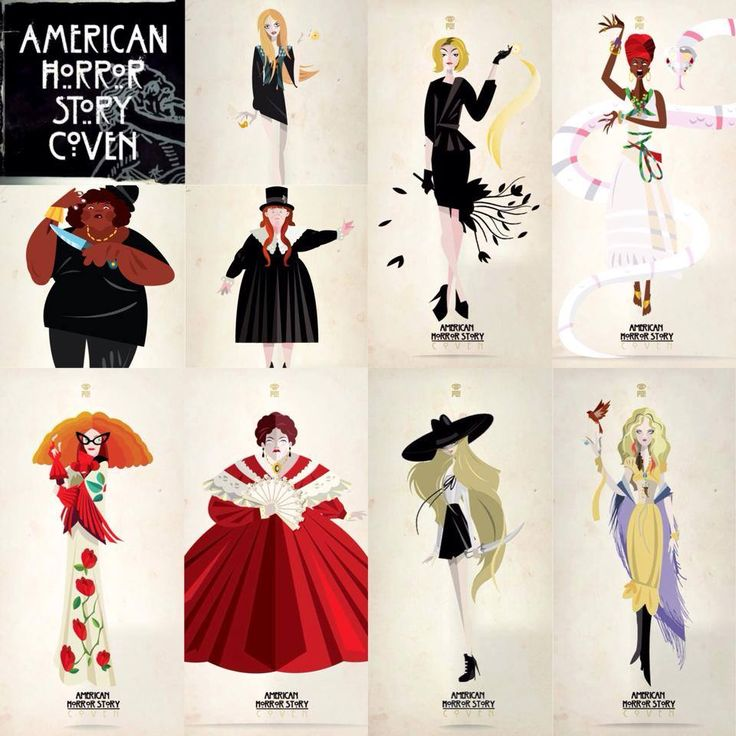 American Horror Story: Coven Madison Montgomery; Fiona Goode; Marie Laveau; Queenie; Nan; Myrtle Snow; Madame Marie Delphine LaLaurie; Zoey Benson; Misty Day