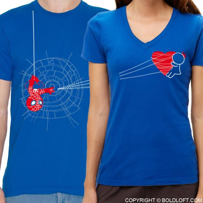 Looking for a spiderman gift for your beloved hero?How about BoldLoft You've Captured My Heart  Matching Couples Shirts? The perfect Christmas gifts for boyfriend or husband.