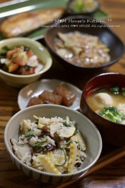 たけのこと山菜の炊き込みご飯 と 献立♪ by manaさん | レシピブログ ...