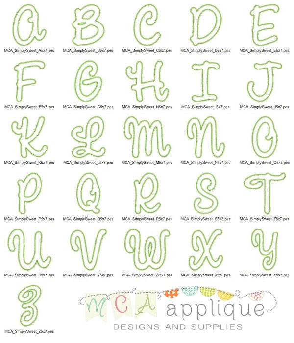 271 best letter templates images on pinterest alphabet fonts mca simply sweet applique alphabet pronofoot35fo Choice Image
