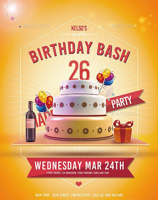 22 Best Beautifully Designed Psd Birthday Party Flyer Templates
