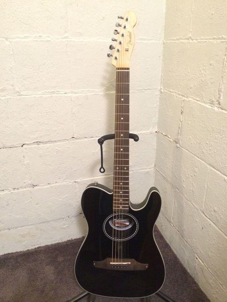 #Fender #Telecoustic Standard Acoustic-Electric Guitar Gloss Black Tele Telecaster, $269.00