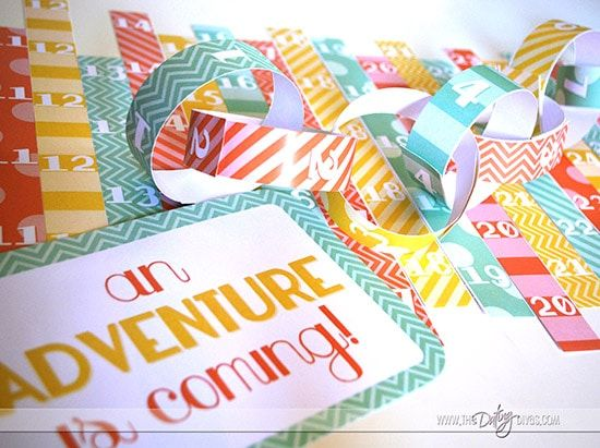 Summer Vacation Countdown Chain with Free Printables