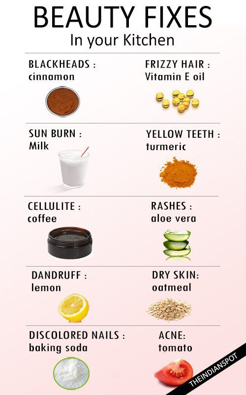 Natural beauty remedies can be whipped together by using simple, basic items probably found throughout your home. Here are 10 simple remedies to help solve almost every beauty problems.    Problem: Blackheads Remedy: Cinnamon   Use cinnamon to clear blackheads, mix it with honey and use it on the blackheads for about 10-15mins and rinse off. 2. Problem: Frizzy hair Remedy: Vitamin E oil To tame dry, frizzy hair smooth a small amount of vitamin e oil on your hair to make them appear soft and…
