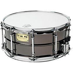 Pork Pie Big Black Brass Snare Drum with Tube Lugs and Chrome Hardware