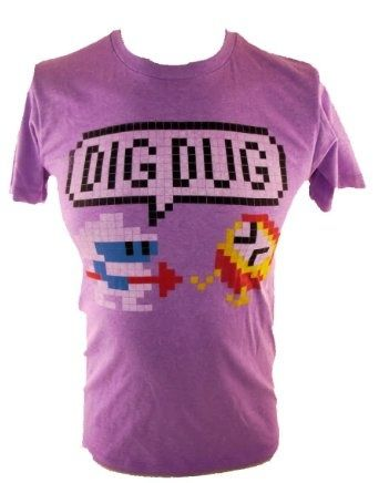 Amazon.com: Dig Dug Mens T-Shirt - Classic Arcade Game Image on ...
