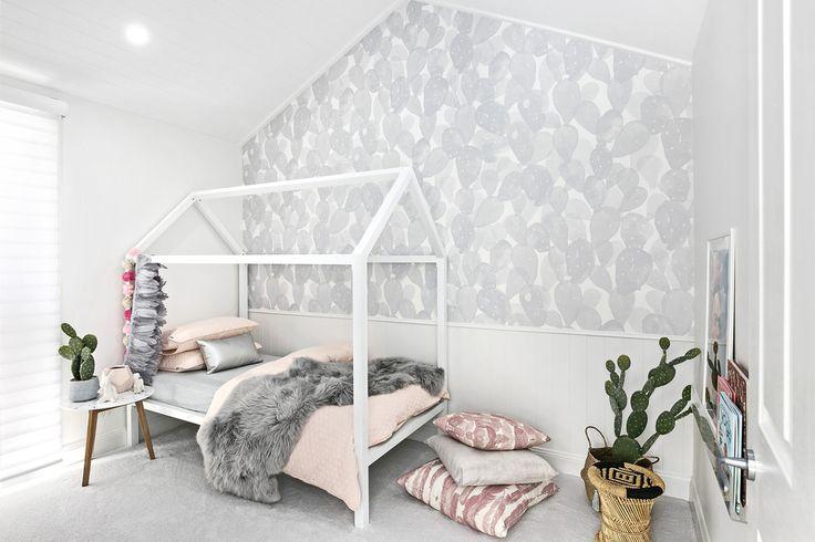 Cactus Wall Paper | Grace Garrett Floor Cushions | Grace Garrett Shutters | Luxaflex Polysatin Shutters