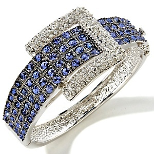 """Adrienne® """"Jeweled Buckle"""" Pavé Crystal Bangle Bracelet  I bought this as ring from Kay Jeweler's."""