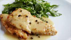 Chicken Piccata Ina Garten  YUM  Be sure to add capers.  YUM