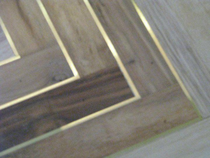 Wood Flooring with brass inlay